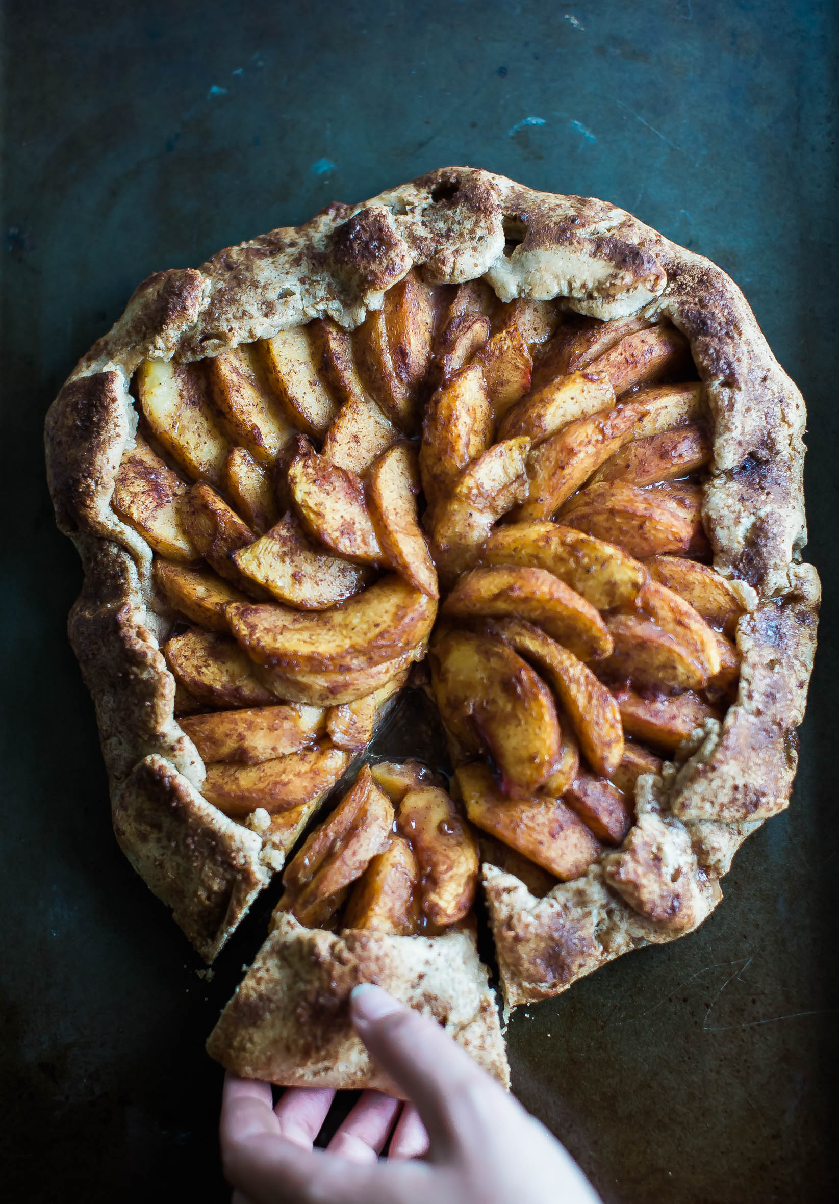 Rustic Paleo Peach Galette | Her Heart and Table | Food Blog